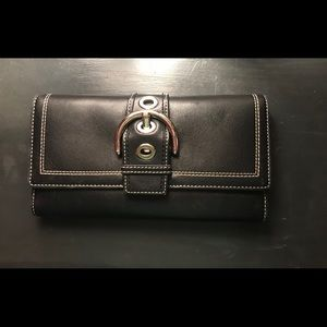 Large Black Coach Wallet with Insert!